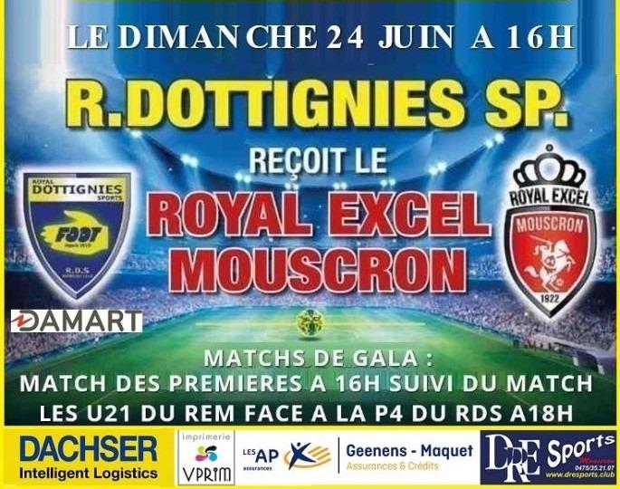 Match de gala face au R. E. Mouscron