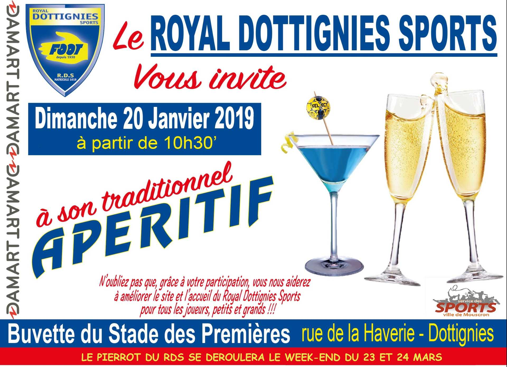 Apero du Royal Dottignies Sports